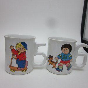 Cabbage Patch Kids mugs 1984